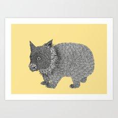Little Wombat Art Print