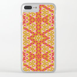 Flower of Life Pattern 45 Clear iPhone Case