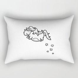 Flight of the Chubby Unicorn Rectangular Pillow