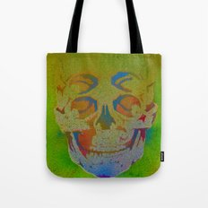 4i skull stencil art - white Tote Bag