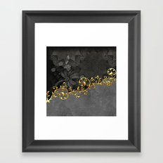 Eleagant design in grey and gold Framed Art Print