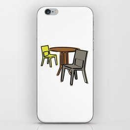 Table & Chairs 03 iPhone Skin