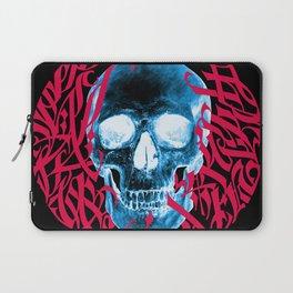 Gothic Calligraphy on Skull saying Always Hungry Laptop Sleeve