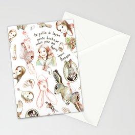 La patte de lapin, talisman (Louis Aragon) Stationery Cards