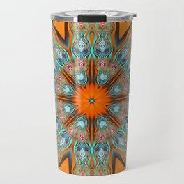Star shape kaleidoscope with playful patterns Travel Mug