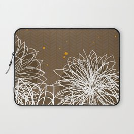 Brown Doodle Floral by Friztin Laptop Sleeve