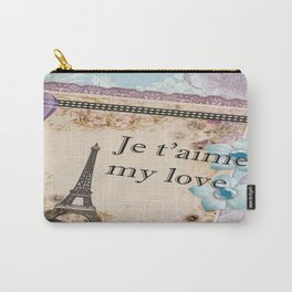Vintage Paris Je t'aime  Carry-All Pouch