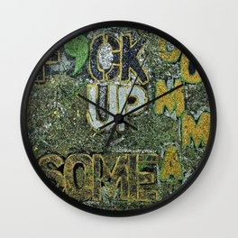 F'CK UP SOME COMMAS Wall Clock