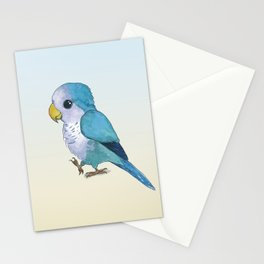 very cute blue quaker parrot Stationery Cards