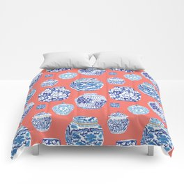 Chinoiserie Ginger Jar Collection No.4 Comforters