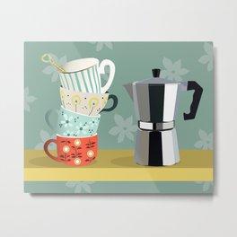 Coffee shelf Metal Print