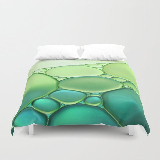 Jade Ombre Bubbles Duvet Cover