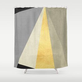 Textures and gold I Shower Curtain