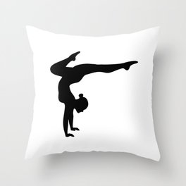 B&W Contortionist Throw Pillow