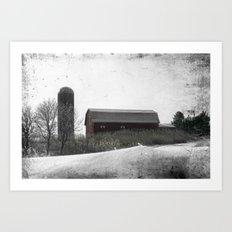 Winter on the Farm Art Print