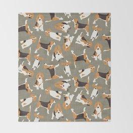 beagle scatter stone Throw Blanket