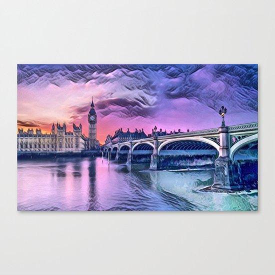 Big Ben with Sunset (London, England) Canvas Print