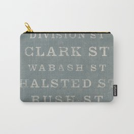 Chicago Streets - Slate Carry-All Pouch