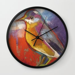 New Bird in Town Square Wall Clock