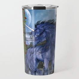 Blue Unicorn 2 Travel Mug