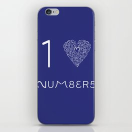 I heart Numbers iPhone Skin