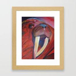 The Red Walrus Framed Art Print