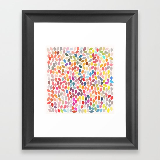rain 3 sq Framed Art Print