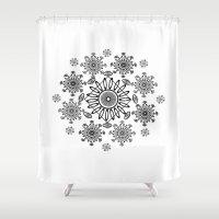 zen Shower Curtains featuring Zen by Marie Mirbekian(JM)