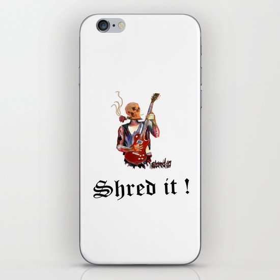 Shred it Skull guitar player  iPhone Skin