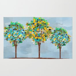Painted Trees Digital art  composition Rug