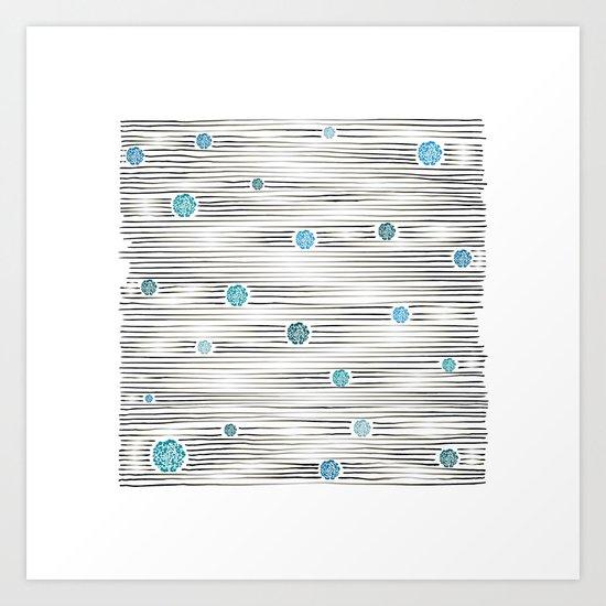 modern lights Art Print