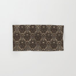 Oriental Pattern -Pastels and Brown Leather texture Hand & Bath Towel
