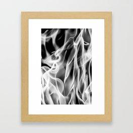 Fire (B&W) Framed Art Print