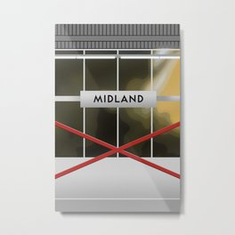 MIDLAND | RT Station Metal Print