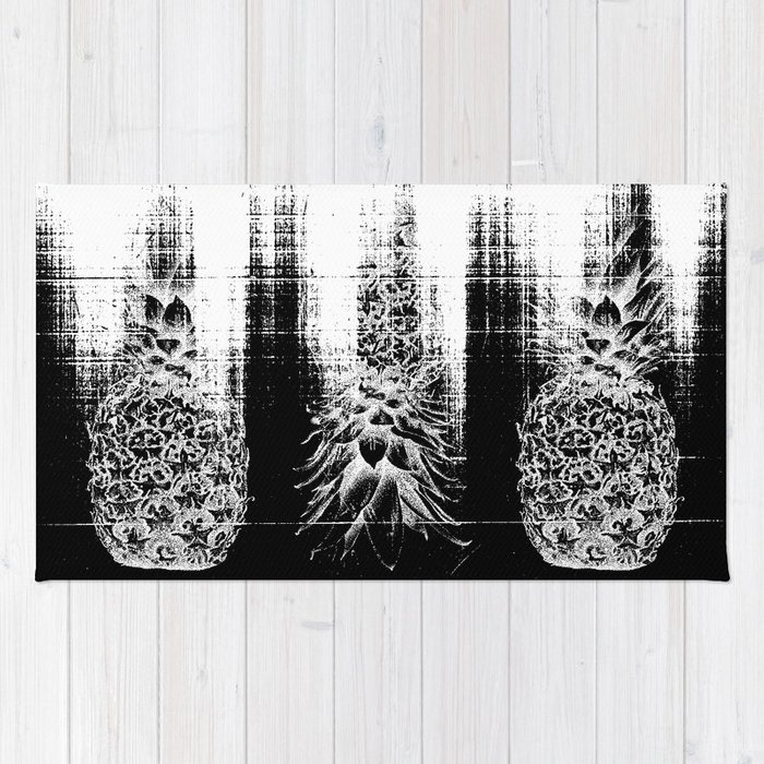 Anatomy of a Pineapple Rug by anchobee | Society6