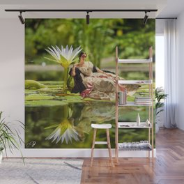 Winterhalter on Water - Collage Artwork - Fine Art Lily Pad Pond Mother Nature Wall Mural