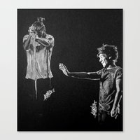 larry Canvas Prints featuring Larry by Drawpassionn