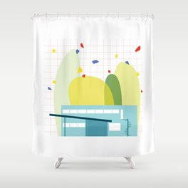 architecture - walter gropius Shower Curtain