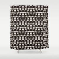 221b Shower Curtains featuring 221B by Jessica Cushen