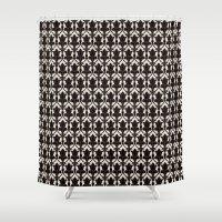 221b Shower Curtains featuring 221B by Jessica Cushen
