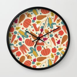 Thanksgiving Dinner Wall Clock
