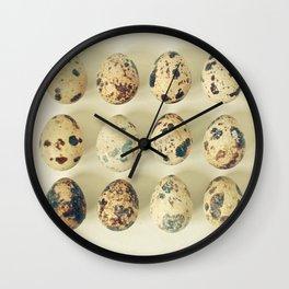 Quail Eggs Wall Clock