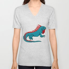 The Phenomenal Iguana Unisex V-Neck