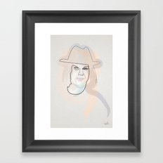 one line Jack White Framed Art Print