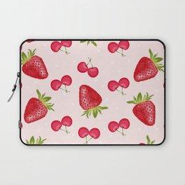 Strawberries Cherries Fiesta Pattern Laptop Sleeve