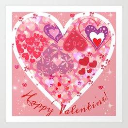 Happy Valentine Art Print