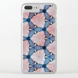 Two Tone Pattern Clear iPhone Case