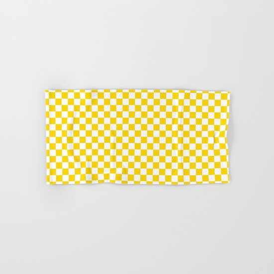 Checker (Gold/White) Hand & Bath Towel