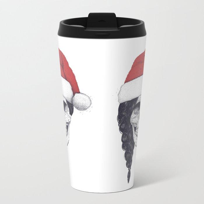 Christmas skull Metal Travel Mug