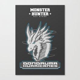 Monster Hunter All Stars - The Dondruma Hurricanes Canvas Print